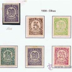 Sellos: CIFRAS 1938 EDIFIL 685 NUEVOS * SERIE COMPLETA . Lote 35578449
