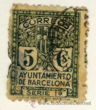 Sello correos ayuntamiento de barcelona 5 centi comprar for Oficina de correos barcelona