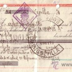 Sellos: SEVILLA. 1939. FISCAL. LETRA DE CAMBIO DE FALANGE. MAGNÍFICA.. Lote 36047657