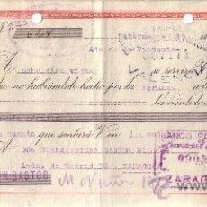 Sellos: PATERNA (VALENCIA). 1939. LETRA DE CAMBIO DE FALANGE. REINTEGRADA CON SELLOS FISCALES. BONITA.. Lote 36047912