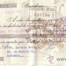 Sellos: BARCELONA. 1935. LETRA DE CAMBIO PRIVADA REINTEGRADA CON SELLO FISCAL. MAGNÍFICA.. Lote 36123952