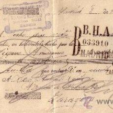 Sellos: MADRID. 1935. LETRA DE CAMBIO DE LA REPÚBLICA REINTEGRADA CON SELLO FISCAL. MAGNÍFICA.. Lote 36124360