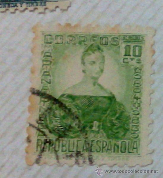 Sellos: CIRCA 1930-1940.-II REPUBLICA ESPAÑOLA,- HOJA CON COLECCIÓN DE 47 SELLOS DE LA ÉPOCA - Foto 12 - 36152588