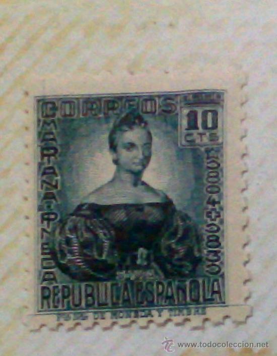 Sellos: CIRCA 1930-1940.-II REPUBLICA ESPAÑOLA,- HOJA CON COLECCIÓN DE 47 SELLOS DE LA ÉPOCA - Foto 3 - 36152588