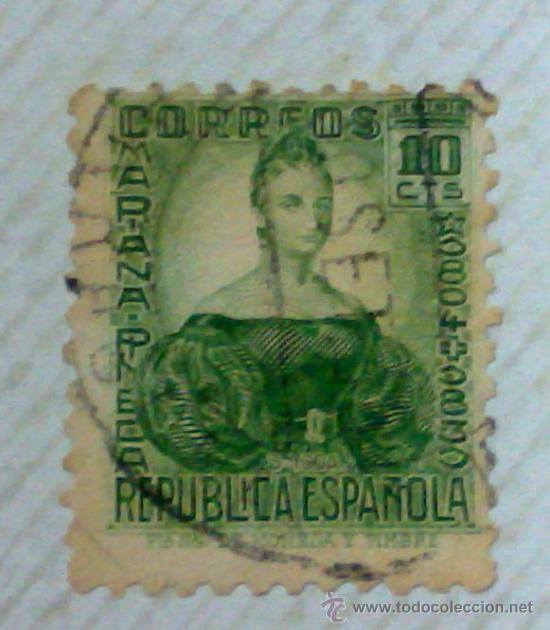 Sellos: CIRCA 1930-1940.-II REPUBLICA ESPAÑOLA,- HOJA CON COLECCIÓN DE 47 SELLOS DE LA ÉPOCA - Foto 13 - 36152588