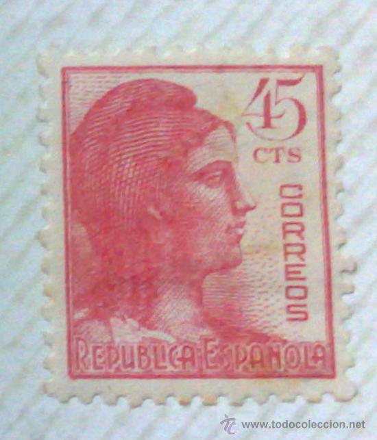 Sellos: CIRCA 1930-1940.-II REPUBLICA ESPAÑOLA,- HOJA CON COLECCIÓN DE 47 SELLOS DE LA ÉPOCA - Foto 14 - 36152588