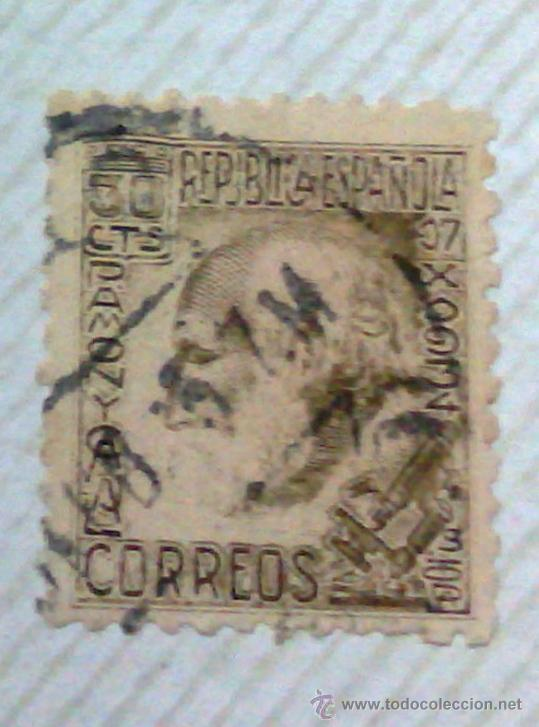 Sellos: CIRCA 1930-1940.-II REPUBLICA ESPAÑOLA,- HOJA CON COLECCIÓN DE 47 SELLOS DE LA ÉPOCA - Foto 23 - 36152588