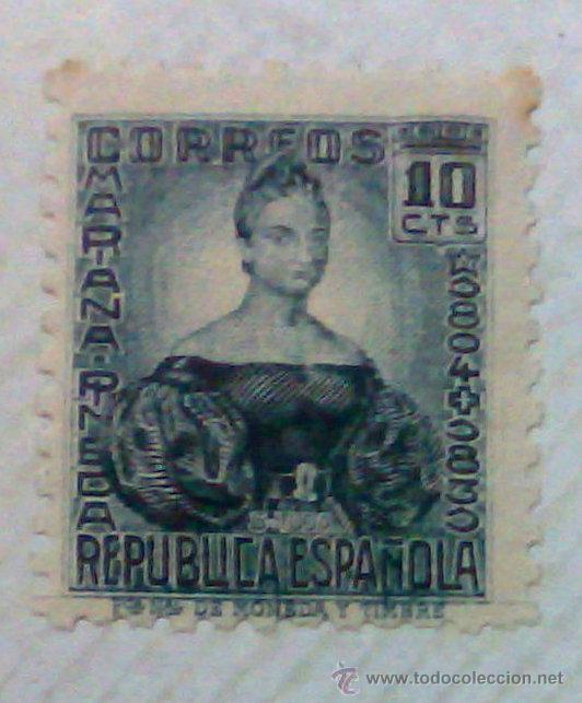 Sellos: CIRCA 1930-1940.-II REPUBLICA ESPAÑOLA,- HOJA CON COLECCIÓN DE 47 SELLOS DE LA ÉPOCA - Foto 4 - 36152588