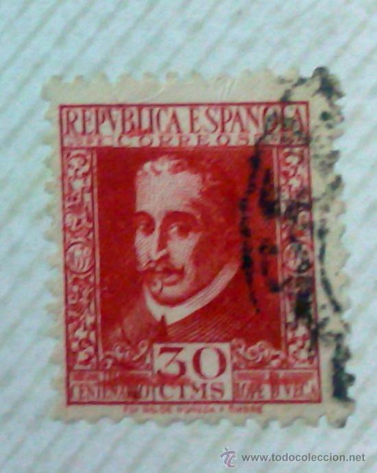 Sellos: CIRCA 1930-1940.-II REPUBLICA ESPAÑOLA,- HOJA CON COLECCIÓN DE 47 SELLOS DE LA ÉPOCA - Foto 26 - 36152588