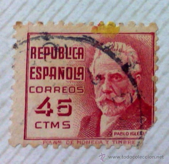 Sellos: CIRCA 1930-1940.-II REPUBLICA ESPAÑOLA,- HOJA CON COLECCIÓN DE 47 SELLOS DE LA ÉPOCA - Foto 27 - 36152588