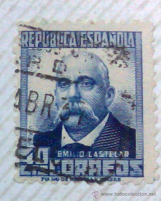 Sellos: CIRCA 1930-1940.-II REPUBLICA ESPAÑOLA,- HOJA CON COLECCIÓN DE 47 SELLOS DE LA ÉPOCA - Foto 32 - 36152588