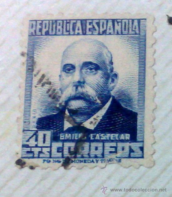 Sellos: CIRCA 1930-1940.-II REPUBLICA ESPAÑOLA,- HOJA CON COLECCIÓN DE 47 SELLOS DE LA ÉPOCA - Foto 33 - 36152588