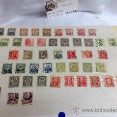 Sellos: CIRCA 1930-1940.-II REPUBLICA ESPAÑOLA,- HOJA CON COLECCIÓN DE 47 SELLOS DE LA ÉPOCA. Lote 36152588