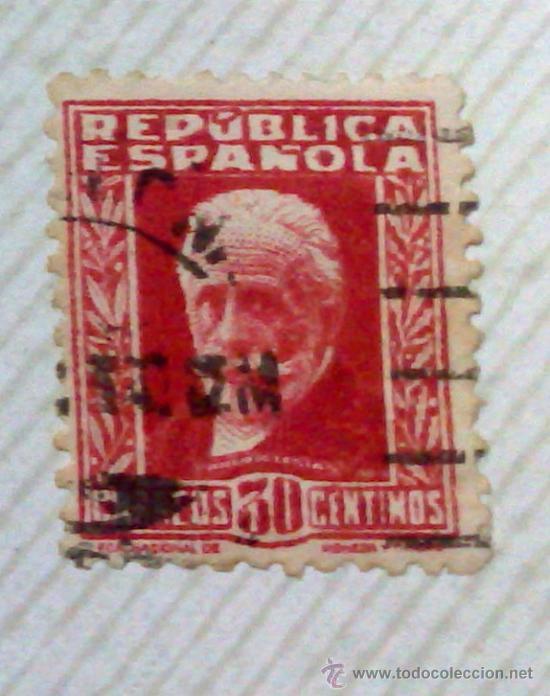 Sellos: CIRCA 1930-1940.-II REPUBLICA ESPAÑOLA,- HOJA CON COLECCIÓN DE 47 SELLOS DE LA ÉPOCA - Foto 43 - 36152588