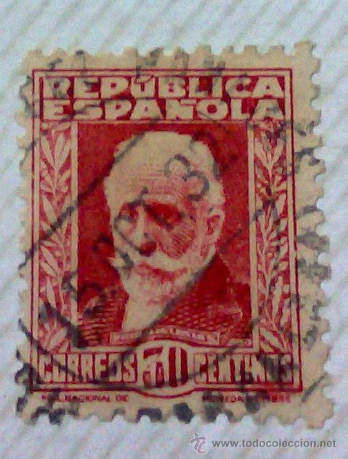Sellos: CIRCA 1930-1940.-II REPUBLICA ESPAÑOLA,- HOJA CON COLECCIÓN DE 47 SELLOS DE LA ÉPOCA - Foto 44 - 36152588
