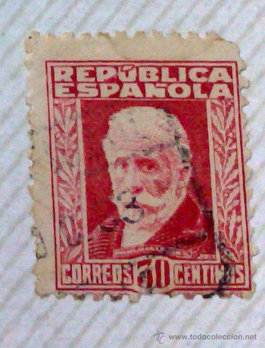 Sellos: CIRCA 1930-1940.-II REPUBLICA ESPAÑOLA,- HOJA CON COLECCIÓN DE 47 SELLOS DE LA ÉPOCA - Foto 45 - 36152588
