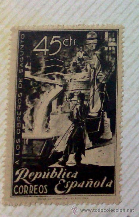 Sellos: CIRCA 1930-1940.-II REPUBLICA ESPAÑOLA,- HOJA CON COLECCIÓN DE 47 SELLOS DE LA ÉPOCA - Foto 47 - 36152588