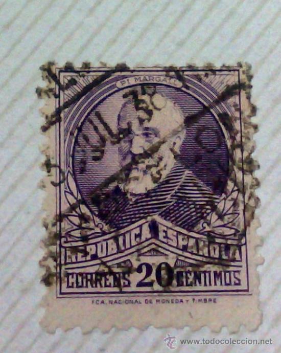 Sellos: CIRCA 1930-1940.-II REPUBLICA ESPAÑOLA,- HOJA CON COLECCIÓN DE 47 SELLOS DE LA ÉPOCA - Foto 48 - 36152588
