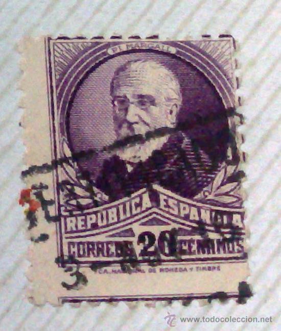 Sellos: CIRCA 1930-1940.-II REPUBLICA ESPAÑOLA,- HOJA CON COLECCIÓN DE 47 SELLOS DE LA ÉPOCA - Foto 49 - 36152588