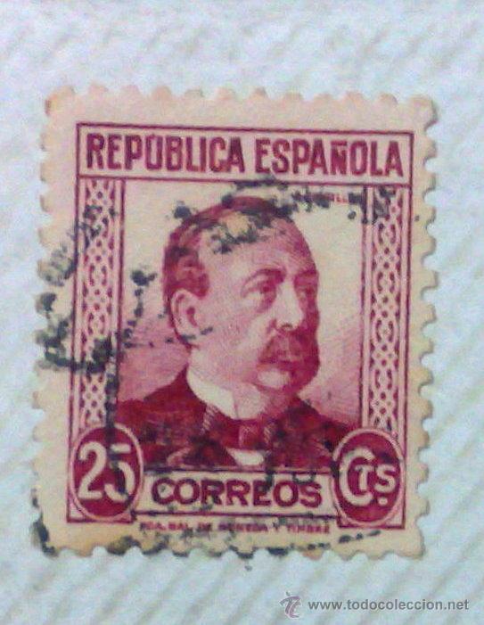Sellos: CIRCA 1930-1940.-II REPUBLICA ESPAÑOLA,- HOJA CON COLECCIÓN DE 47 SELLOS DE LA ÉPOCA - Foto 8 - 36152588