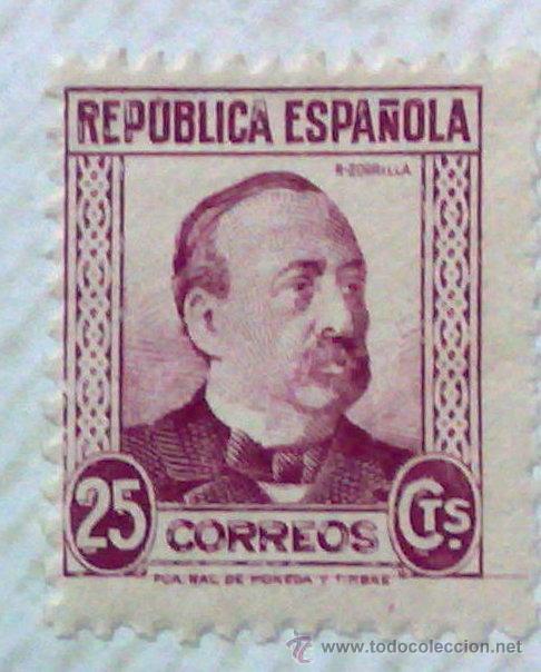 Sellos: CIRCA 1930-1940.-II REPUBLICA ESPAÑOLA,- HOJA CON COLECCIÓN DE 47 SELLOS DE LA ÉPOCA - Foto 9 - 36152588