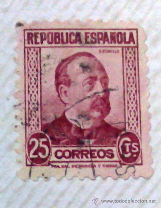 Sellos: CIRCA 1930-1940.-II REPUBLICA ESPAÑOLA,- HOJA CON COLECCIÓN DE 47 SELLOS DE LA ÉPOCA - Foto 10 - 36152588