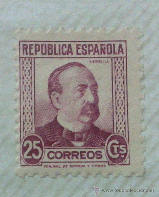 Sellos: CIRCA 1930-1940.-II REPUBLICA ESPAÑOLA,- HOJA CON COLECCIÓN DE 47 SELLOS DE LA ÉPOCA - Foto 11 - 36152588