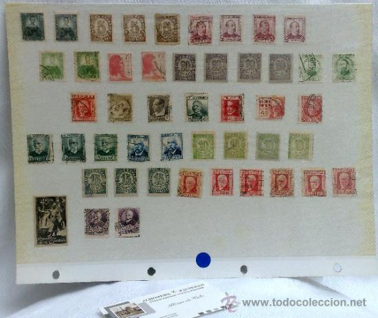 Sellos: CIRCA 1930-1940.-II REPUBLICA ESPAÑOLA,- HOJA CON COLECCIÓN DE 47 SELLOS DE LA ÉPOCA - Foto 51 - 36152588
