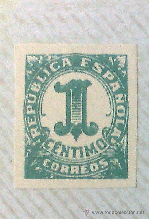Sellos: CIRCA 1930-1940.- II REPÚBLICA ESPAÑOLA,- .-HOJA CON COLECCIÓN DE 19 SELLOS DE LA ÉPOCA. - Foto 3 - 36189333