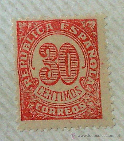 Sellos: CIRCA 1930-1940.- II REPÚBLICA ESPAÑOLA,- .-HOJA CON COLECCIÓN DE 19 SELLOS DE LA ÉPOCA. - Foto 14 - 36189333
