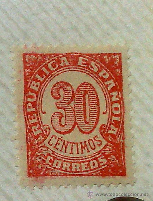 Sellos: CIRCA 1930-1940.- II REPÚBLICA ESPAÑOLA,- .-HOJA CON COLECCIÓN DE 19 SELLOS DE LA ÉPOCA. - Foto 15 - 36189333