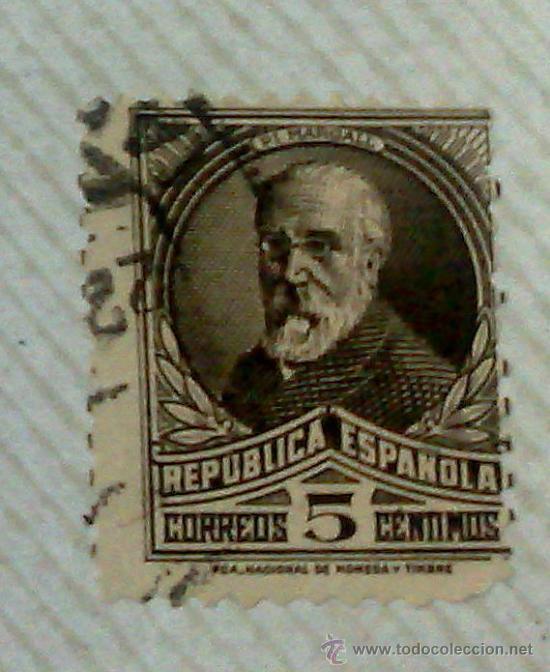 Sellos: CIRCA 1930-1940.- II REPÚBLICA ESPAÑOLA,- .-HOJA CON COLECCIÓN DE 19 SELLOS DE LA ÉPOCA. - Foto 16 - 36189333