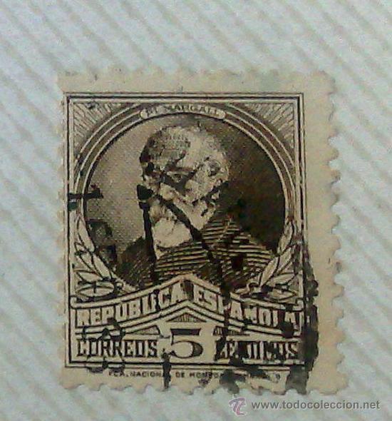 Sellos: CIRCA 1930-1940.- II REPÚBLICA ESPAÑOLA,- .-HOJA CON COLECCIÓN DE 19 SELLOS DE LA ÉPOCA. - Foto 18 - 36189333