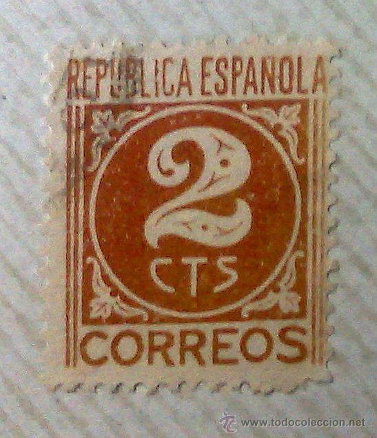Sellos: CIRCA 1930-1940.- II REPÚBLICA ESPAÑOLA,- .-HOJA CON COLECCIÓN DE 19 SELLOS DE LA ÉPOCA. - Foto 21 - 36189333