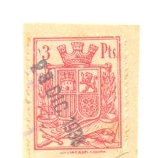 Sellos: 1- TRES PESETAS II REPUBLICA A CLASIFICAR.. Lote 36249675