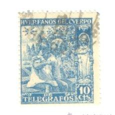 Sellos: 1- 10 CENTIMOS HUERFANOS DEL CUERPO DE TELEGRAFOS.. Lote 36249862