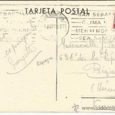 Sellos: POSTAL SAN SEBASTIAN CON MAT RODILLO 1936 CLIMA IDEAL MAR MONTAÑA ARENA Y SOL MAT EN TRES IDIOMAS. Lote 36292991