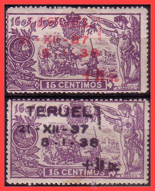 1938 TOMA DE TERUEL, EDIFIL Nº NE32 Y NE33 * FF (Sellos - España - II República de 1.931 a 1.939 - Nuevos)