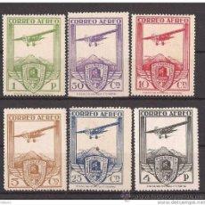 Sellos: ES483-3786TTOA. SPAIN ESPAGNE.AVIONES.CONGRESO FERROCARRILES AEREO 1930 (ED 483/8*)CON LEVE CHARNE. Lote 19095529