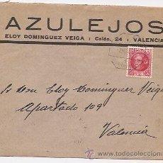 Sellos: SOBRE CON PUBLICIDAD DE AZULEJOS. VALENCIA. Lote 37017513