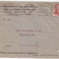 Sellos - Sobre con publicidad de Unión cerámica de Alicante - 37017538