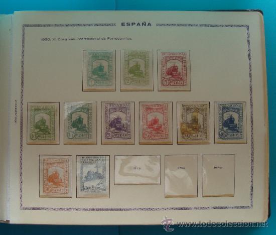 Sellos: ALBUN COLECCION DE SELLOS ESPAÑA DESDE 1930 A 1949, NUEVOS CON FIJASELLOS Y CIRCULADOS, 65 PAGINAS - Foto 3 - 37442271