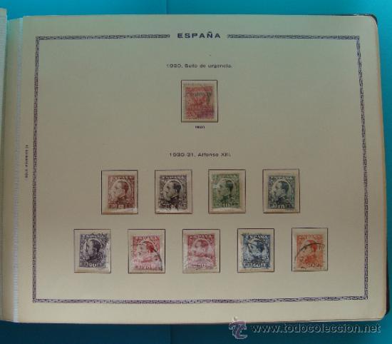 Sellos: ALBUN COLECCION DE SELLOS ESPAÑA DESDE 1930 A 1949, NUEVOS CON FIJASELLOS Y CIRCULADOS, 65 PAGINAS - Foto 5 - 37442271