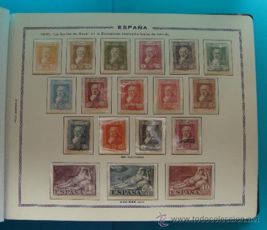 Sellos: ALBUN COLECCION DE SELLOS ESPAÑA DESDE 1930 A 1949, NUEVOS CON FIJASELLOS Y CIRCULADOS, 65 PAGINAS - Foto 6 - 37442271