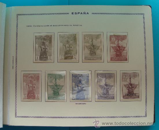 Sellos: ALBUN COLECCION DE SELLOS ESPAÑA DESDE 1930 A 1949, NUEVOS CON FIJASELLOS Y CIRCULADOS, 65 PAGINAS - Foto 8 - 37442271