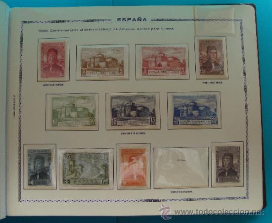 Sellos: ALBUN COLECCION DE SELLOS ESPAÑA DESDE 1930 A 1949, NUEVOS CON FIJASELLOS Y CIRCULADOS, 65 PAGINAS - Foto 10 - 37442271