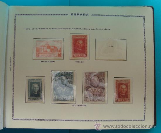 Sellos: ALBUN COLECCION DE SELLOS ESPAÑA DESDE 1930 A 1949, NUEVOS CON FIJASELLOS Y CIRCULADOS, 65 PAGINAS - Foto 11 - 37442271