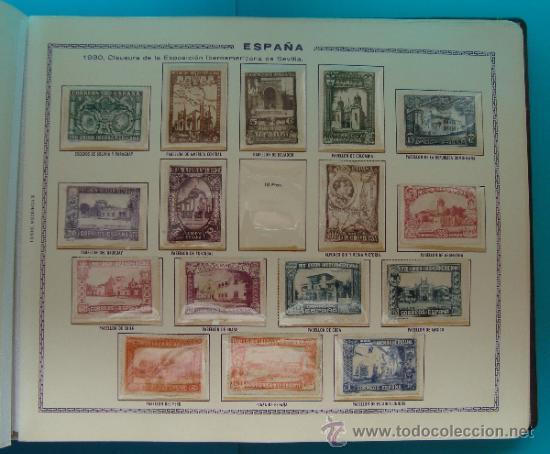 Sellos: ALBUN COLECCION DE SELLOS ESPAÑA DESDE 1930 A 1949, NUEVOS CON FIJASELLOS Y CIRCULADOS, 65 PAGINAS - Foto 12 - 37442271