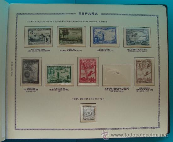 Sellos: ALBUN COLECCION DE SELLOS ESPAÑA DESDE 1930 A 1949, NUEVOS CON FIJASELLOS Y CIRCULADOS, 65 PAGINAS - Foto 13 - 37442271