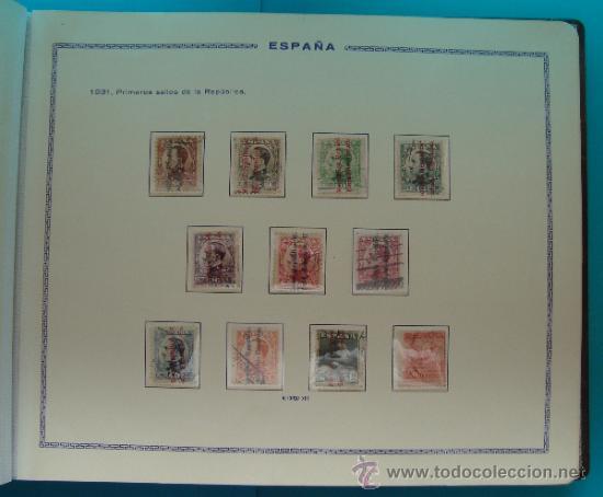 Sellos: ALBUN COLECCION DE SELLOS ESPAÑA DESDE 1930 A 1949, NUEVOS CON FIJASELLOS Y CIRCULADOS, 65 PAGINAS - Foto 15 - 37442271